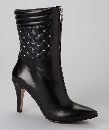 Black Nappa Trixie Studded Ankle Boot