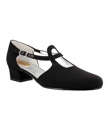Black Pearl Cutout Pump