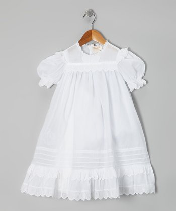 White Lace Ruffle Dress - Toddler