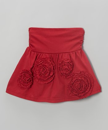 Red Rosette Skirt - Toddler & Girls