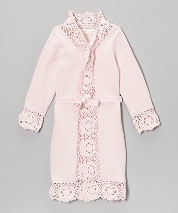 Pink Crochet-Trim Duster - Toddler & Girls
