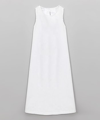 White Christening Gown Slip - Infant