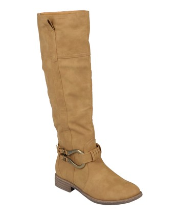 Tan Kourt Over-the-Knee Boot