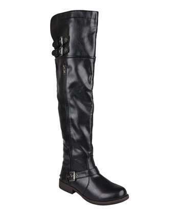Black Genesee Over-the-Knee Boot