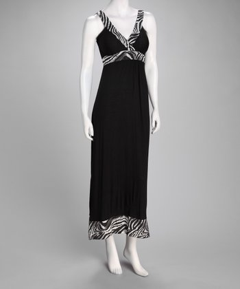 Black & White Zebra Maxi Dress