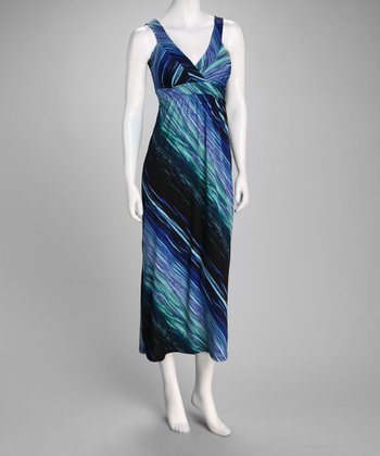 Blue Wave Maxi Dress