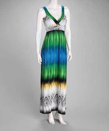 Turquoise Diamond Maxi Dress