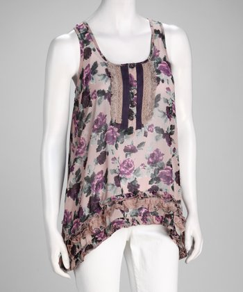 Rose Floral Sleeveless Top