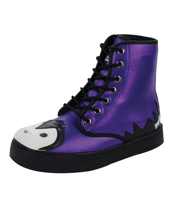 Violet Luster Penguin Hi-Top Boot
