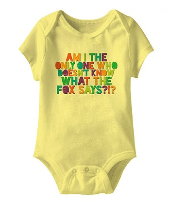 Banana 'Am I the Only One' Bodysuit - Infant