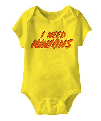 Yellow 'I Need Minions' Bodysuit - Infant