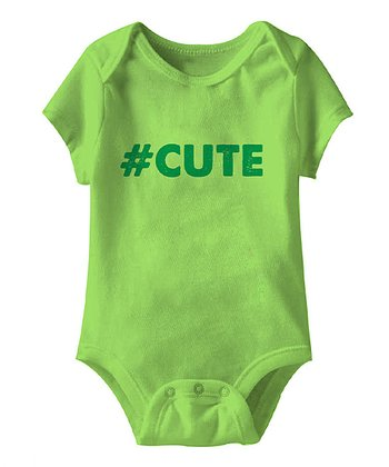 Key Lime '#Cute' Bodysuit - Infant