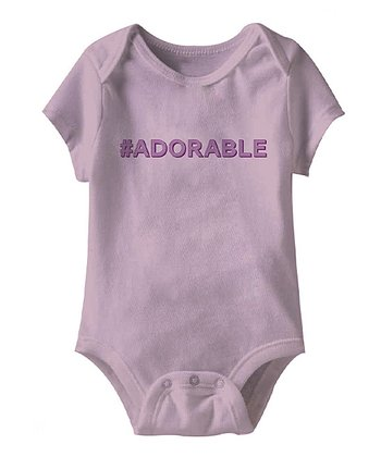 Lilac '#Adorable' Bodysuit - Infant