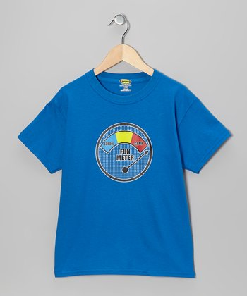 Royal Blue 'Fun Meter' Tee - Boys