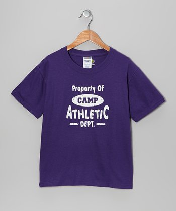Purple 'Property of Camp' Tee - Kids