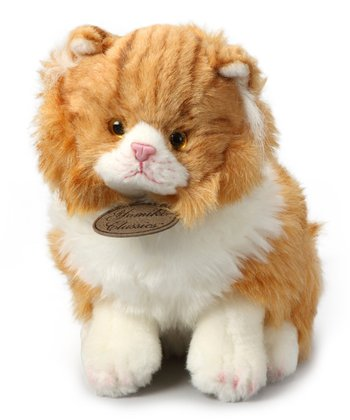 Upright Orange Tabby Cat Plush Toy