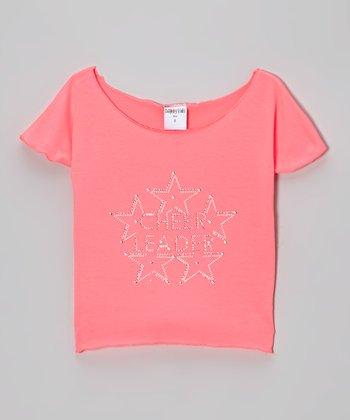 Pink 'Cheerleader' Crop Top - Girls