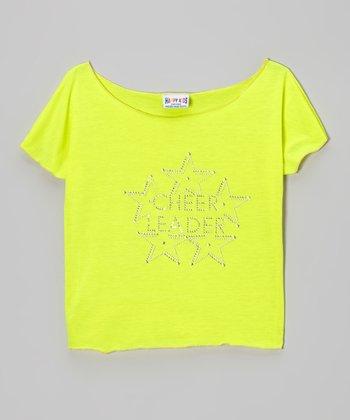Yellow 'Cheerleader' Crop Top - Girls