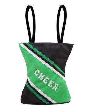 Sassi Designs Black & Green 'Cheer' Uniform Tote
