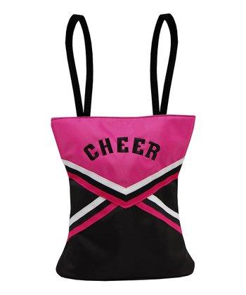 Sassi Designs Black & Hot Pink 'Cheer' Uniform Tote