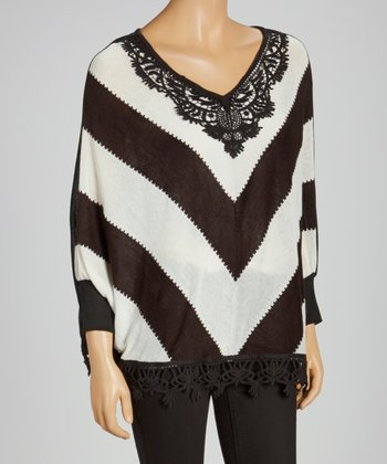 Black Chevron Swing Top