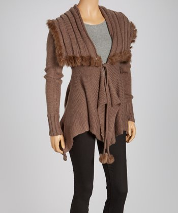 Brown Handkerchief Cardigan