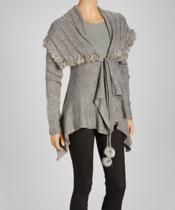 Charcoal Handkerchief Cardigan