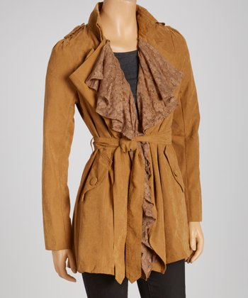 Camel Puff Sleeve Jacket