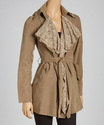 Olive Puff Sleeve Jacket
