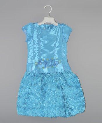 Turquoise Ruffle Dress - Toddler & Girls