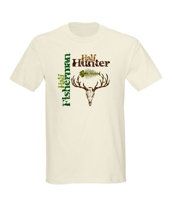 Natural 'Half Fisherman Half Hunter' Tee - Men