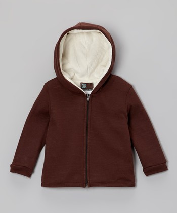 Brown Zip-Up Hoodie - Infant & Toddler
