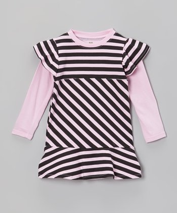 Pink Stripe Dress - Infant