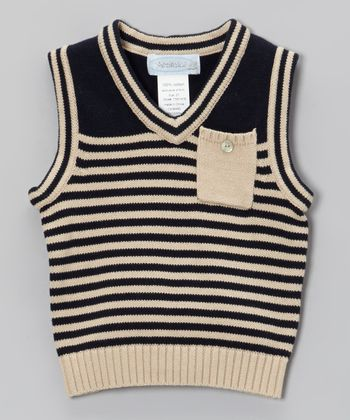 Navy Stripe Sweater Vest - Toddler & Boys