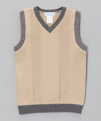 Beige Sweater Vest - Toddler & Boys