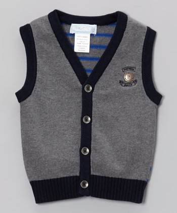 Gray Sweater Vest - Toddler & Boys