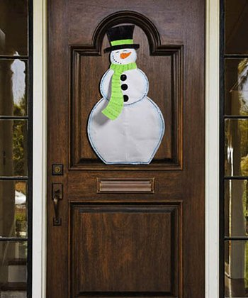 Seasonal Snowman Door Hanger