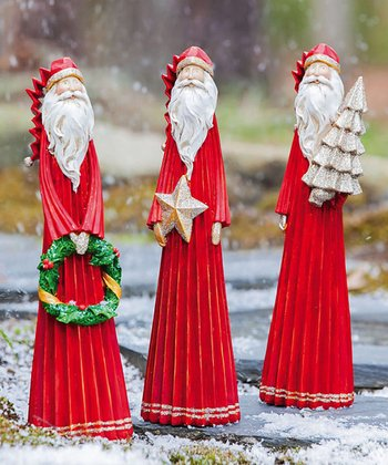 Season's Blessings Santa Figurine Set