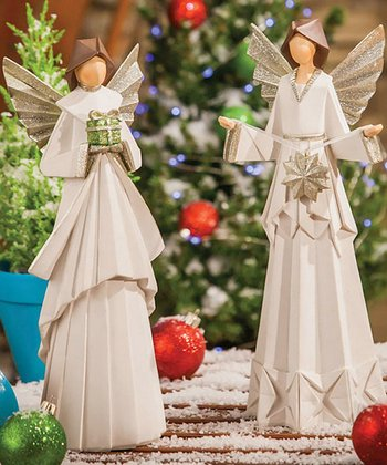 Crafted Angel Figurine Set