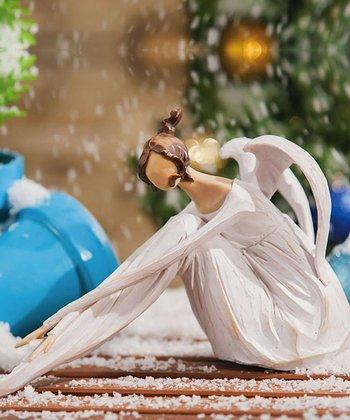 Winter's Bliss Angel Figurine