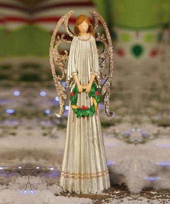 Angel & Wreath Figurine