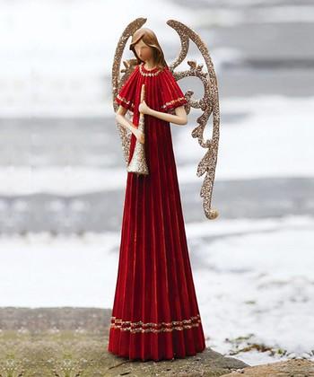 Angel & Trumpet Figurine