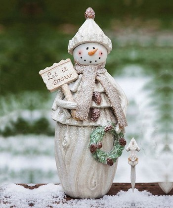 Frosty Holiday Snowman Statue