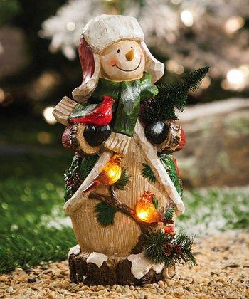 Snowman & Forest Friends Statue
