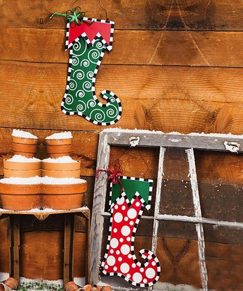 Believe In Christmas Wall Stocking Set