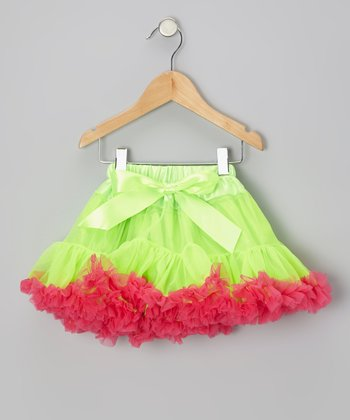 Lime Green & Hot Pink Pettiskirt - Infant, Toddler & Girls