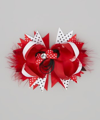 Red Mouse Bow Clip