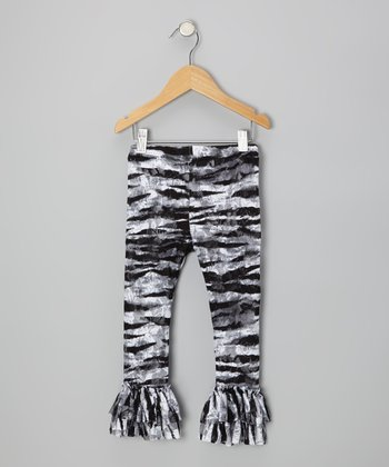 Zebra Lace Leggings - Infant, Toddler & Girls