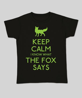 Black 'Keep Calm I Know What the Fox Says' Fitted Tee - Women