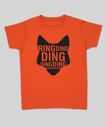 Orange 'Ring Ding Ding' Fox Fitted Tee - Women